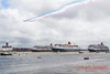 Red Arrows flying over the Three Queens.