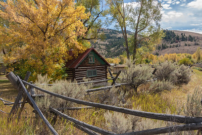 Bannack  State Park in fall.