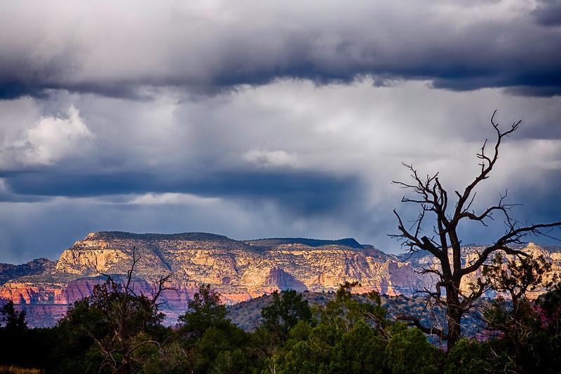 Snow Clouds over Sedona -- Arizona