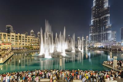 The Dubai Fountain Rising