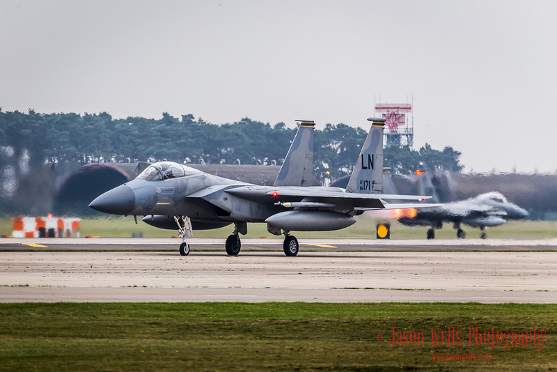 F-15C's at RAF Lakenheath.