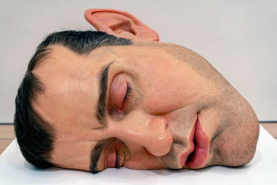 """Mask II"" Sculpture by Ron Mueck"