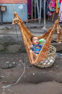 Lombok, Indonesia. Sleeping on a noisy market.