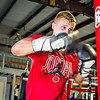 New England Silver Mitten Champ Zack Bailey, practices on a heavy bag at TMX Boxing and Core Fitness in Randolph.  Wicked Local Staff Photo/Rob Thorn