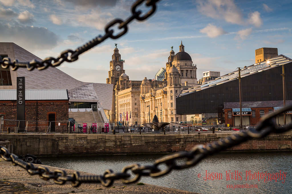 Pier Head in the golden hour.
