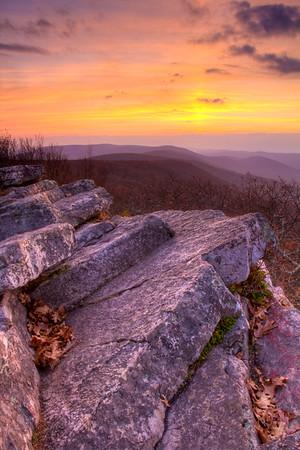 Wind Rock Sunset