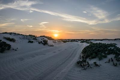 White Dunes Sunset