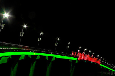 Bridge of Light, black sky -- Little Rock, Arkansas.