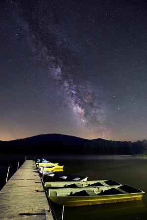 Milky Way over Moncove Lake WV