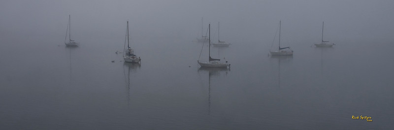 Boats in Fog on Lake Granby