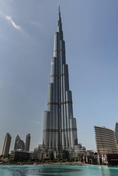 Burj Khalifa over Dubai Fountain