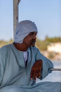 Egyptian skipper on the Nile, near Aswan