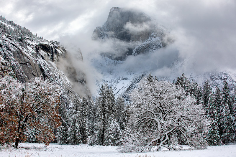 Half Dome clearing storm.