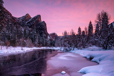 Snow Filled Sunrise in Yosemite