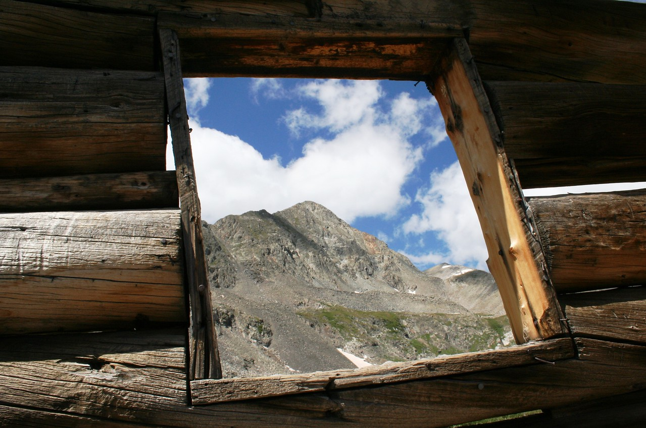 Father Dyer Peak through Miners Cabin, Mosquito Range, CO