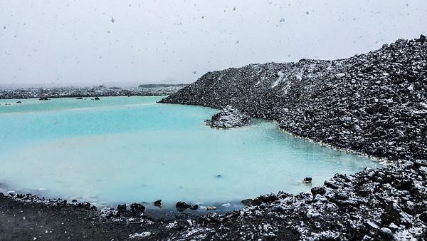 Blue Lagoon Snow Storm