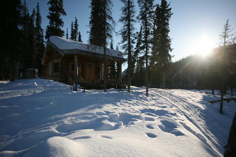 WHITE MOUNTAINS, AK - Windy Gap Cabin.