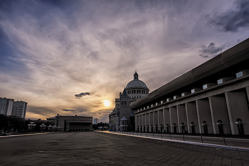 Christian Science Center Sunset