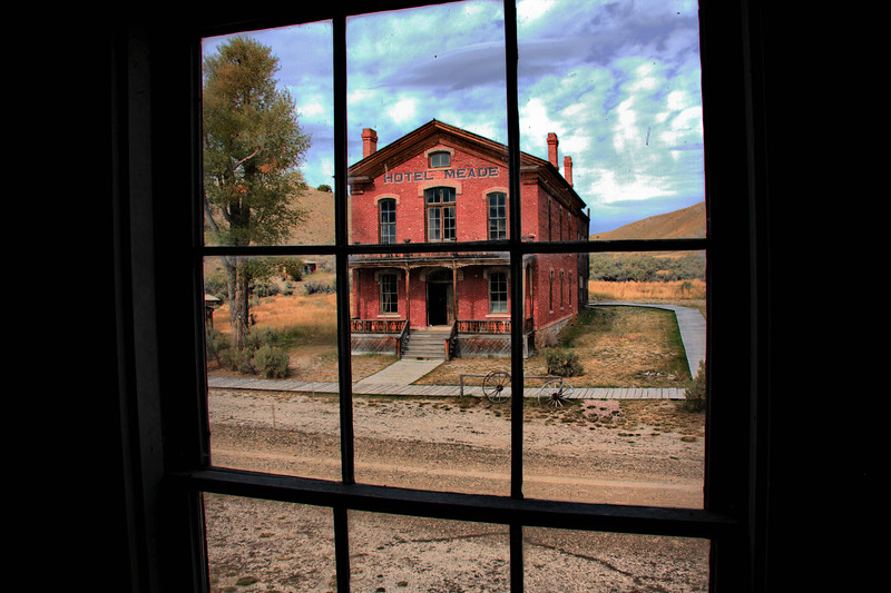 Bannack's Hotel Meade, taken from one of the Gibson Houses.