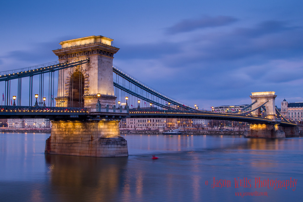 Chain Bridge during the blue hour.