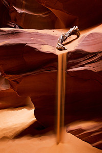 Flowing sand, @ Upper Antelope Canyon