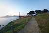 Evening stroll along the Golden Gate Bridge<br /> ref: 9eb86640-3a9b-4e91-9568-8404f70624ec