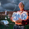 """Called The Lightning Catchers, or Lightning in a jar, an old couple harvest lightning and save the electricity in large glass mason jars.  If you would like to purchase an 18""""x22"""" version of this image, please click <a href=""""http://www.bryan-allen.com/Other/The-Lightning-Catchers/11443767_UufX8""""> <span class=""""myEmail"""">here</span></a>.</p>  Please excuse the watermark. Stealing this picture had become sport for some. Illegal copies are on no less than a Pink Floyd bootleg DVD and even an internal FBI web page. Go figure."""