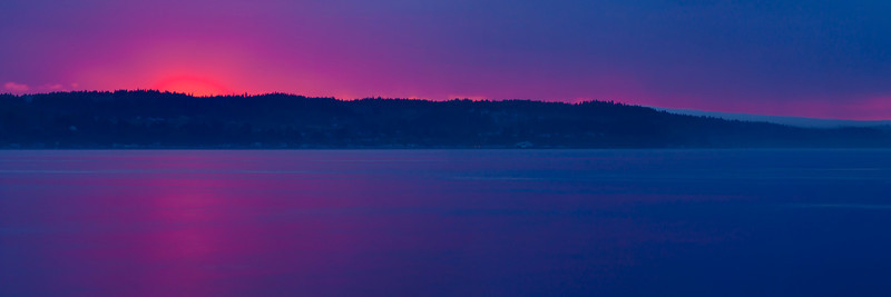 Whidbey Island Sunset Pano