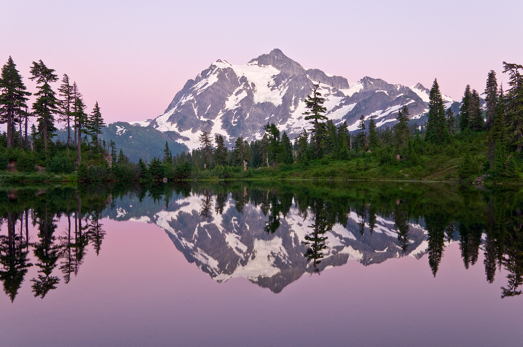 Mt. Shuksan with Pink Glow