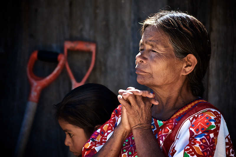 Indigenous Mixtec Woman Praying - Guerrero, Mexico