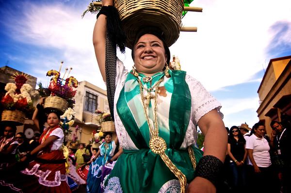 "Traditional ""Chinas Oaxaqueñas"" Dancers - La Guelaguetza - Oaxaca, Mexico"