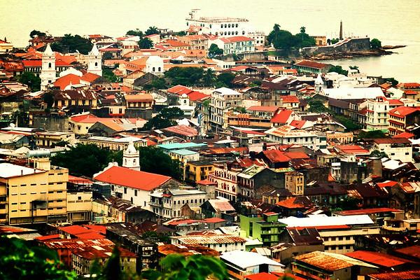 Rooftops at Casco Viejo - Panama City, Panama