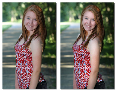 Before and After enhancing in Photoshop...