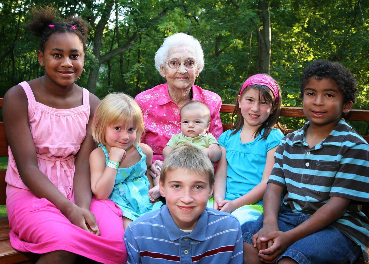 Grannie Annie and the little kids...
