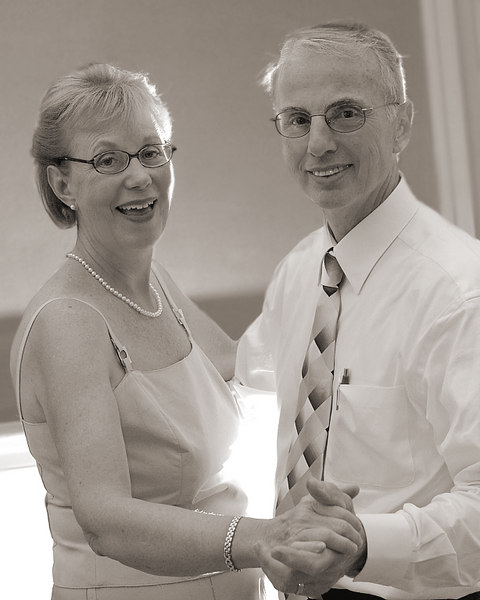 Lois & Bill Rowe - Sepia Wedding Day Candid