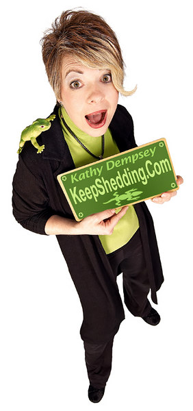 """Learn more about <a href=""""http://www.keepshedding.com"""" target=""""_blank"""">""""The Lizard Lady,"""" Kathy Dempsey</a>, and her inspiring advice for growth and change at <a href=""""http://www.keepshedding.com"""" target=""""_blank"""">keepshedding.com</a>"""