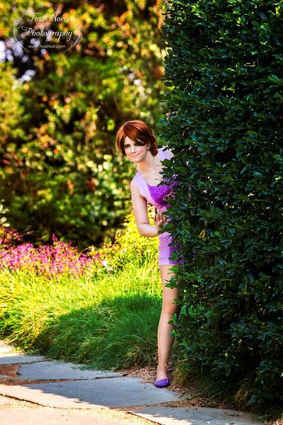 Modern day Rapunzel, female portrait