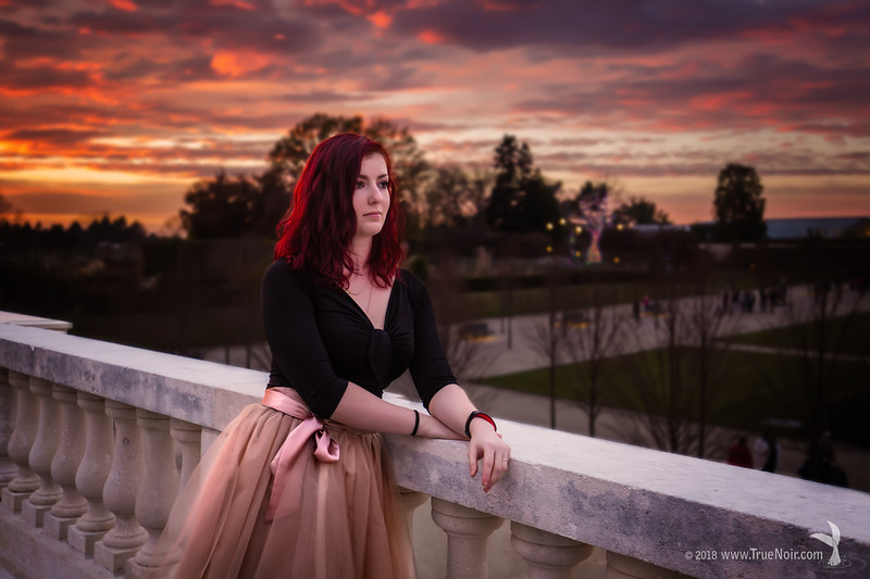 Sunset from a fairytale, portrait photography