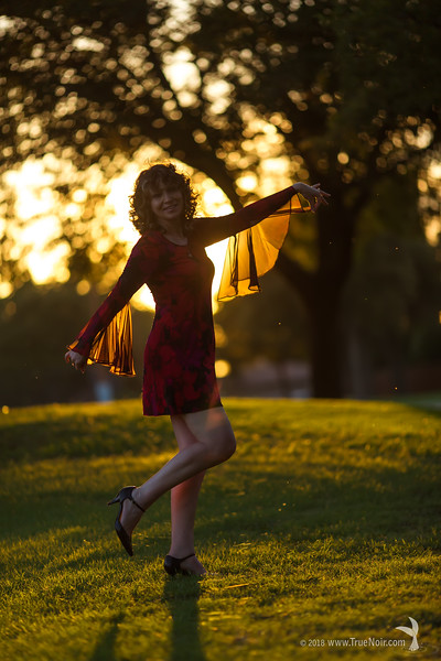 Magic of a sunset, portrait photography