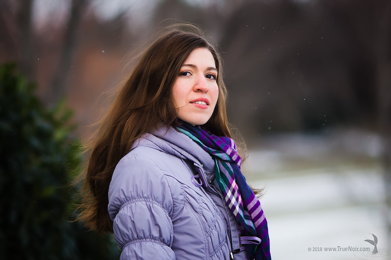 Cold nose, winter portrait