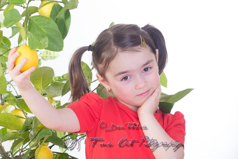 Girl with Lemon Tree