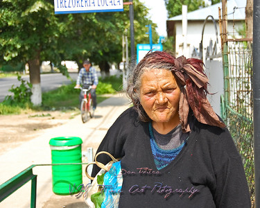 Homeless woman from Munteni, Romania.