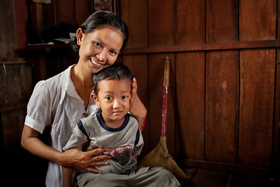 Mother and Son - Phnom Penh, Cambodia
