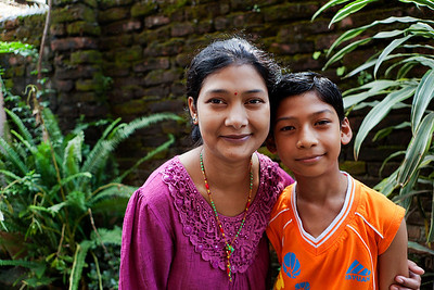 Mother and Son - Kathmandu, Nepal