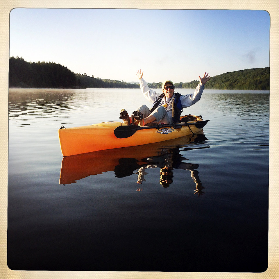 Look, kayaking with no hands!