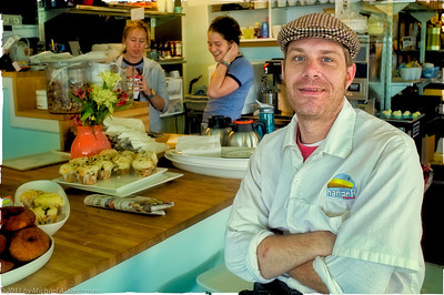 Chef Brian Erskine in his Chatham restaurant (Chatham, MA, 2011) [Michael A. Karchmer]