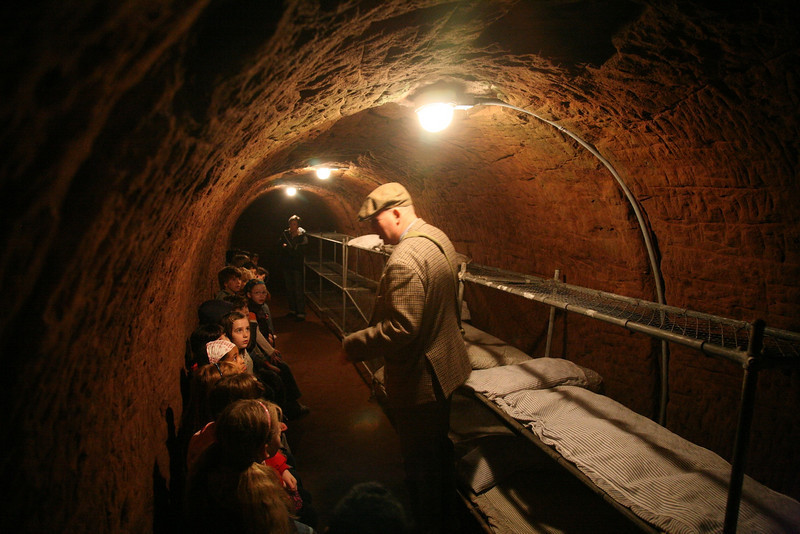 school trip to stockport air raid shelters, 2008