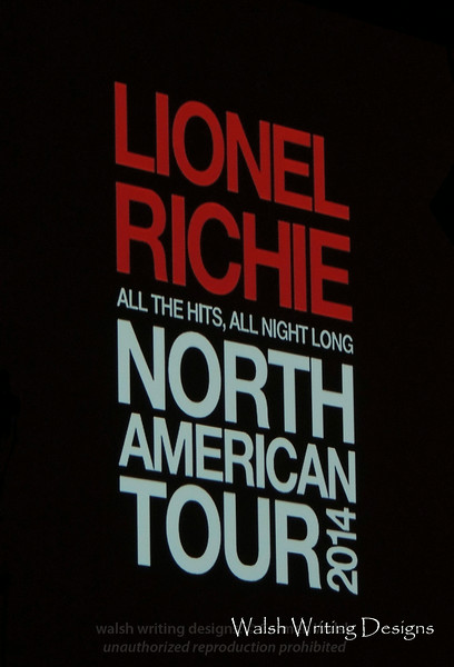 Lionel Richie concert --  August 3, 2014, The Borgata, Atlantic City, New Jersey