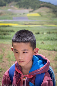 Village Boy in the high land of Yulong, Yunnan, China.  山區小童,中國雲南玉龍,纳西族自治區