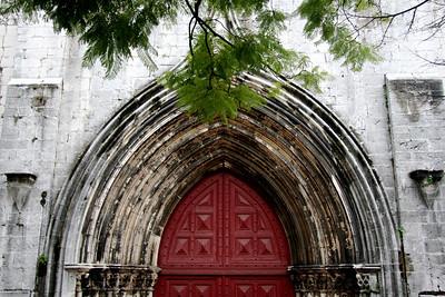 Main portal of Carmo Convent - Lisbon